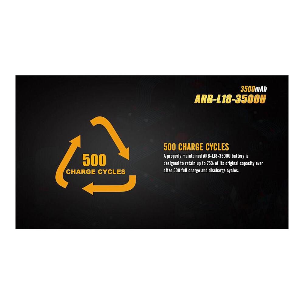 Fenix ARB-L18-3500U USB 18650 Battery Yellow