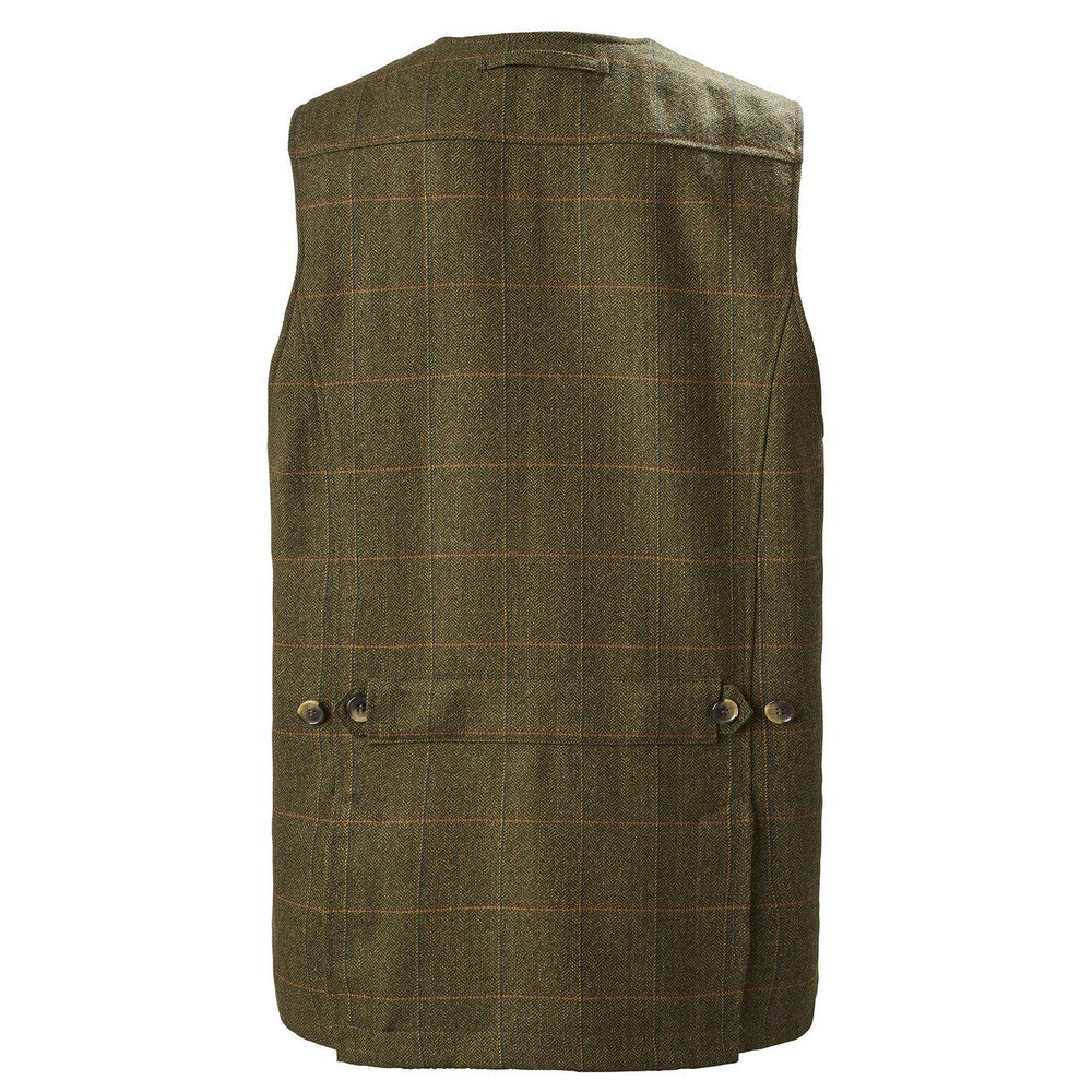 Musto Light Machine Washable Tweed Waistcoat - Balmoral Green