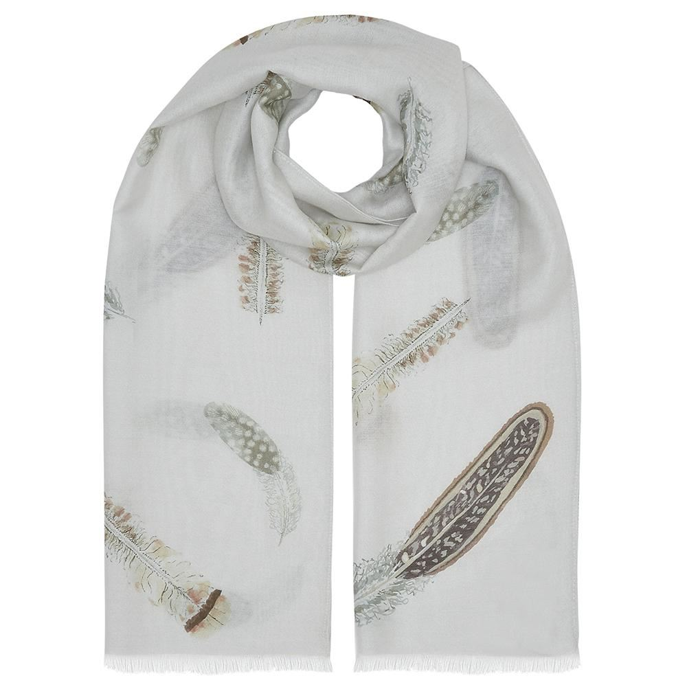 Evemy & Evemy Pluma Silk Scarf - Game Bird Feathers