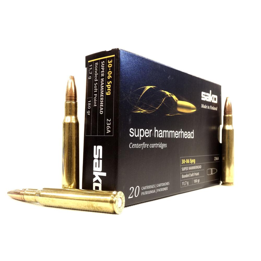 Sako .30-06 Ammunition - 180gr - Super Hammerhead Brass