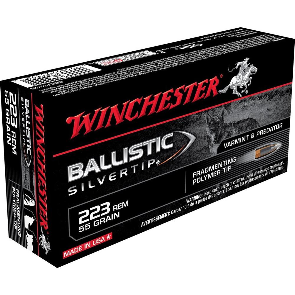 Winchester .223 Ammunition - 55gr - Ballistic Silvertip