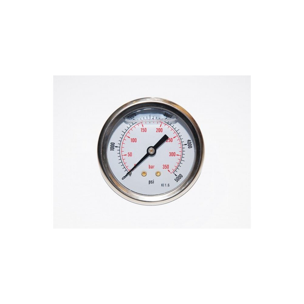 Allcocks Pressure Gauge 63mm 1/4 & 1/8