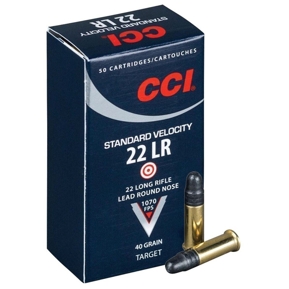 CCI .22LR Ammunition - 40gr - Standard Velocity Solid Nose Unknown