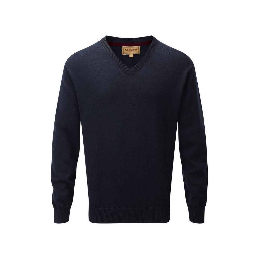 Schoffel Schoffel Cotton Cashmere V-Neck Jumper