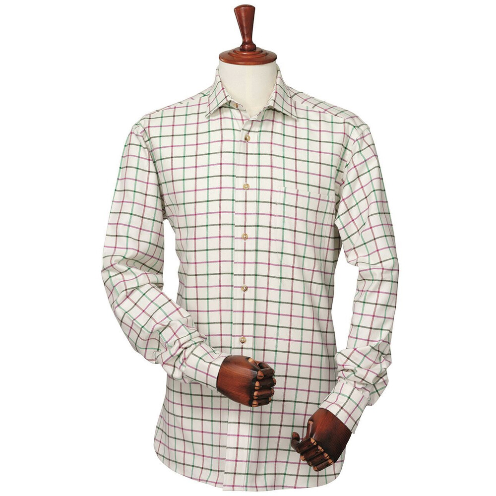 Laksen Karl Shirt - Shamrock Green/Wine Purple