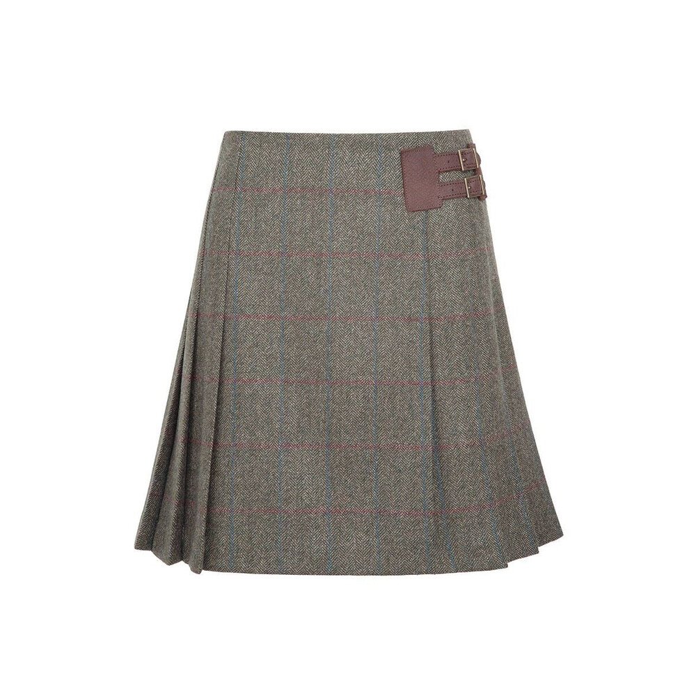 Dubarry Foxglove Pleated Tweed Skirt - Size 12