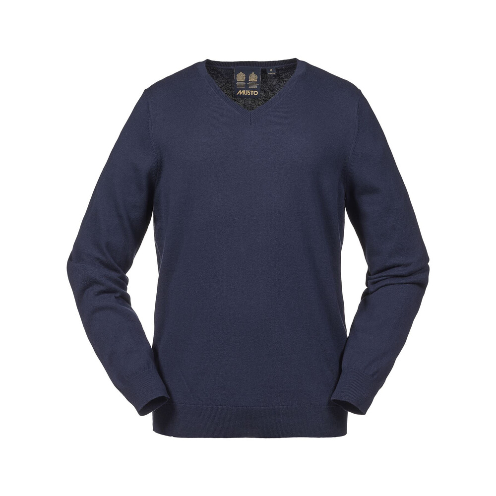 Musto Merino V Knit - Kingfisher Blue