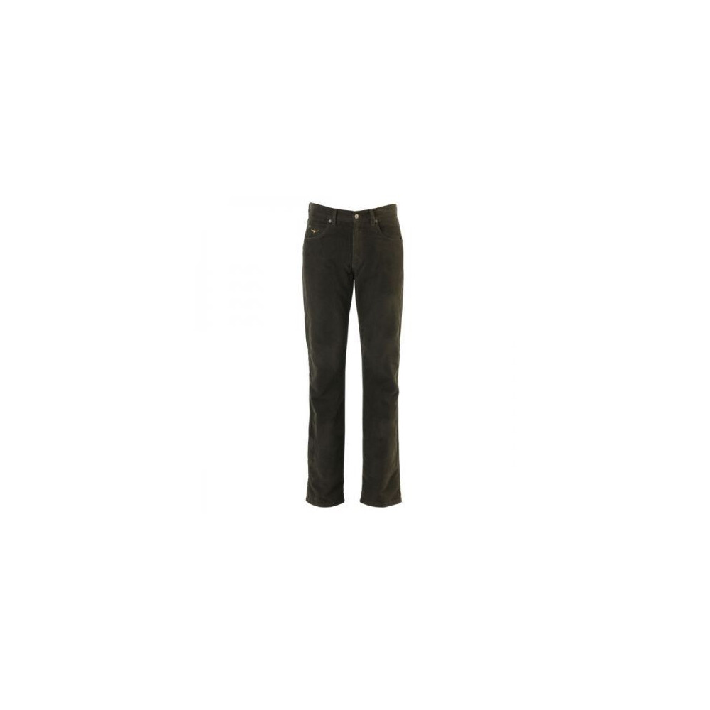 R.M.Williams Luxury Linesman Moleskin Jeans - Regular Chocolate