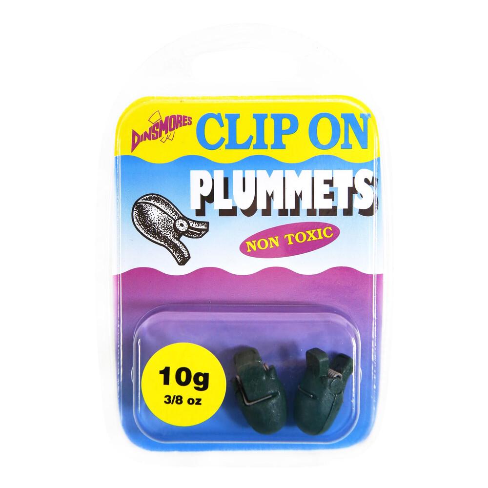 Dinsmores Clip On Plummets - 10g - Pack of 2