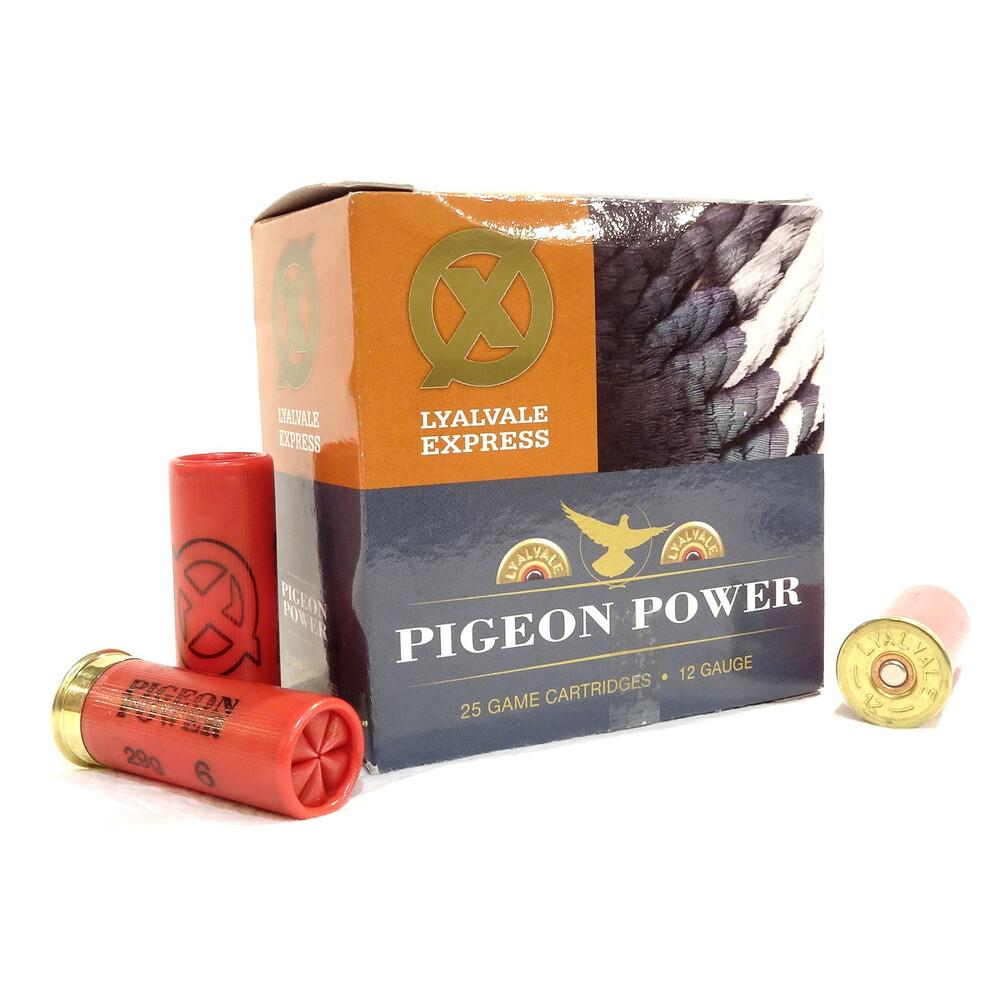 Lyalvale Express 12 Gauge - Pigeon Power Shotgun Cartridges - 29gr - 6 Shot - Plastic
