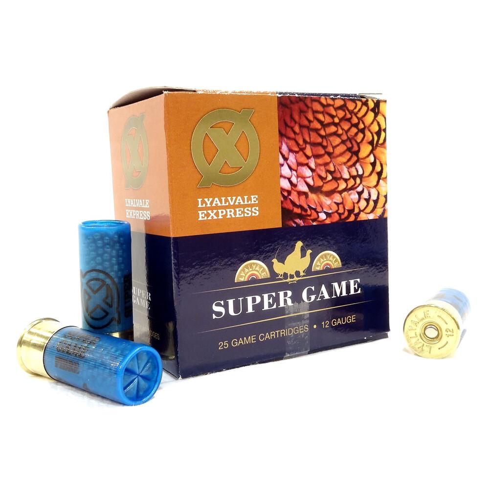 Lyalvale Express 12 Gauge - Super Game Shotgun Cartridges - 32gr - 5 Shot - Fibre