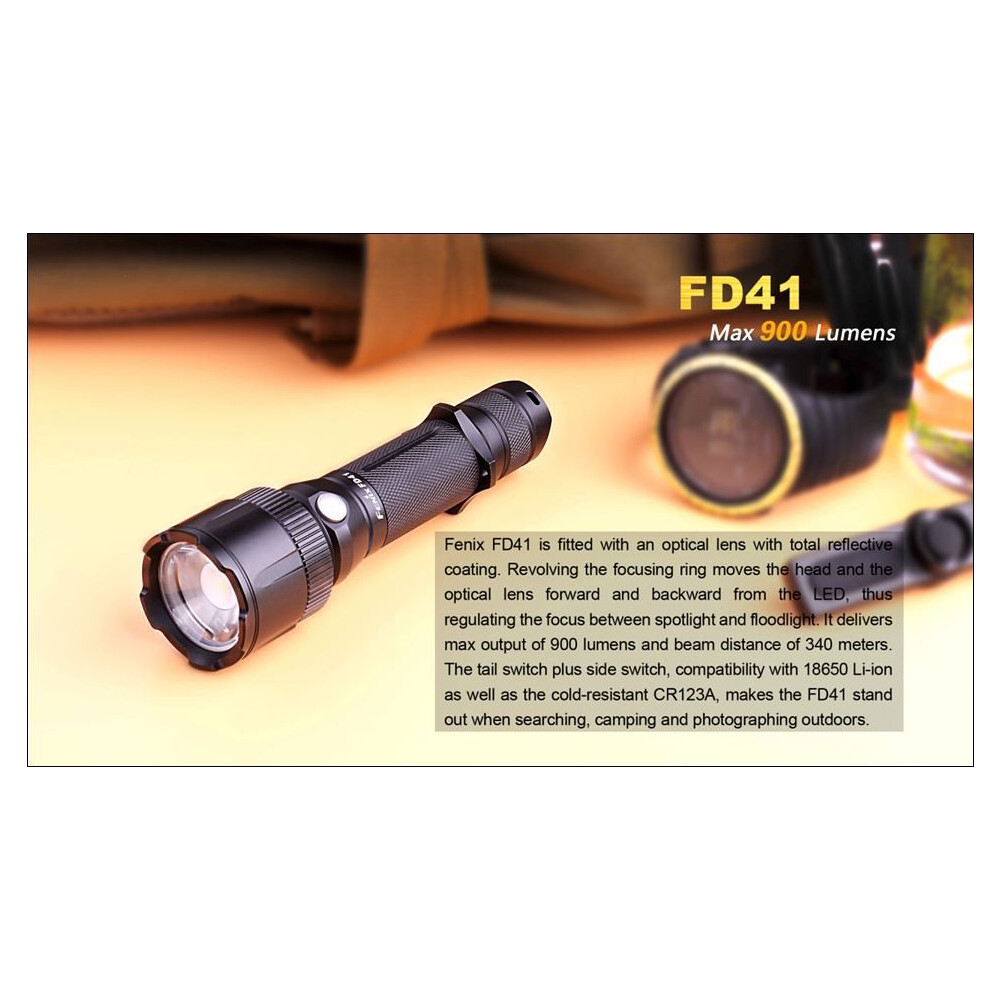 Fenix FD41 Torch - 900 Lumen Black