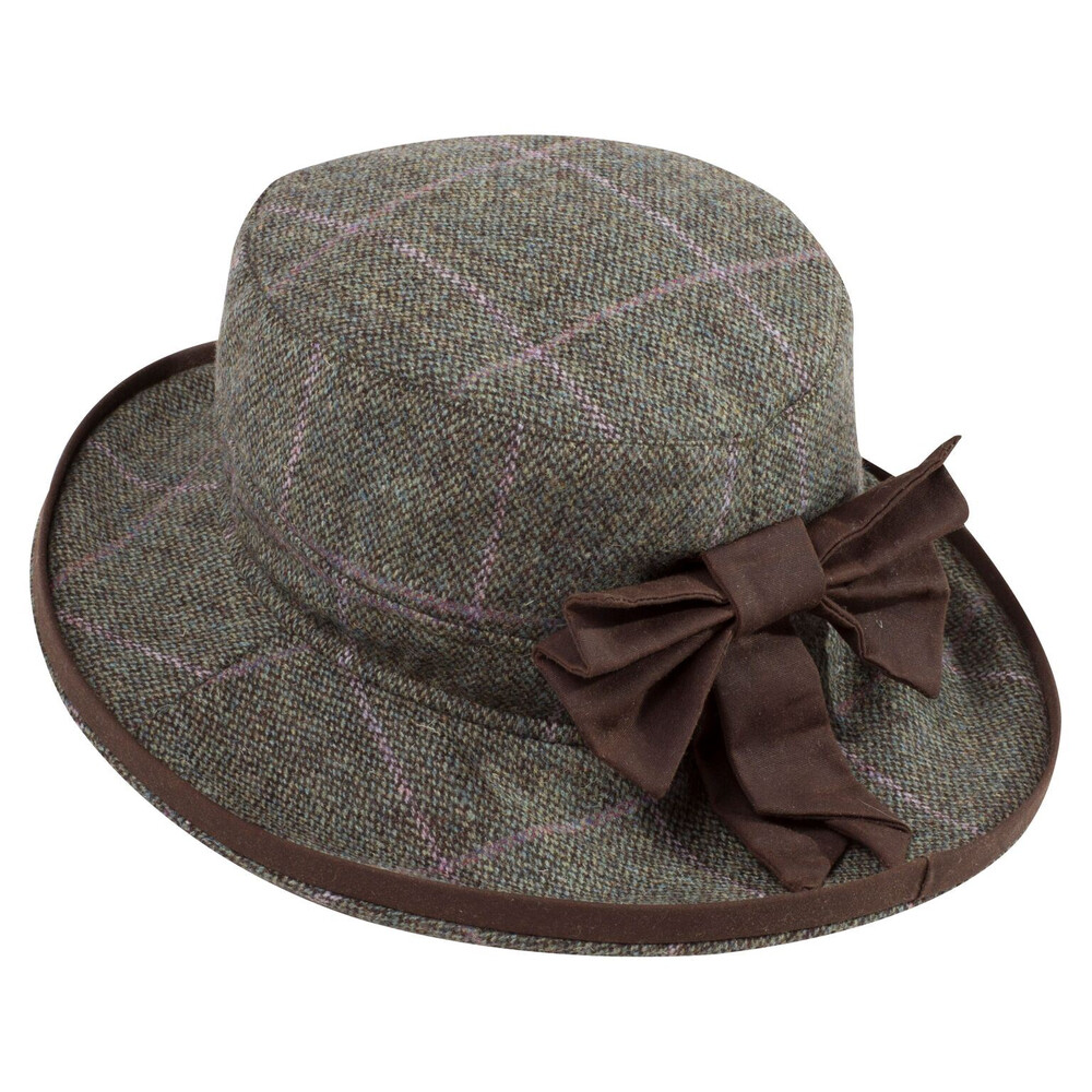 Alan Paine Surrey Ladies Tweed Hat Hemp