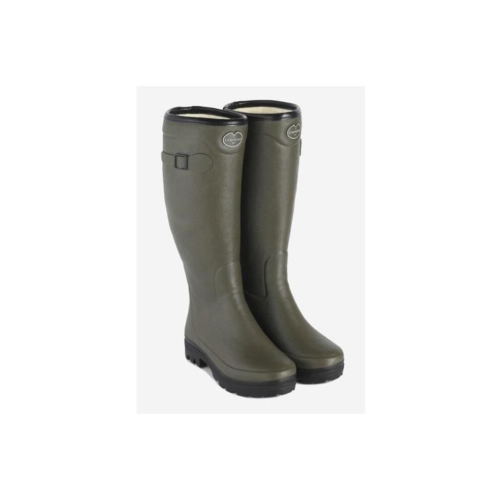 Le Chameau Country Lady Fouree Fur Lined Wellington Boots Vert Chameau