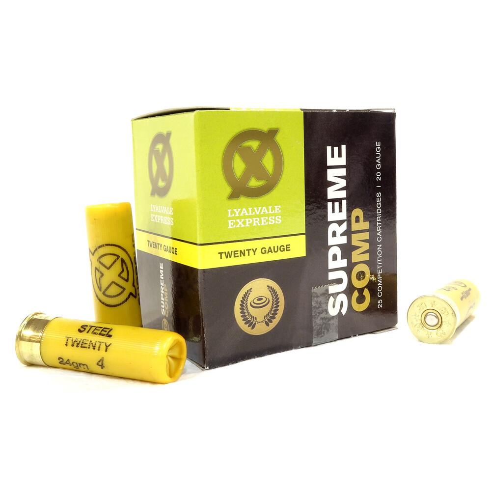 Lyalvale Express Steel 20 Gauge Shotgun Cartridges - 24g - 4 Shot -  Fibre