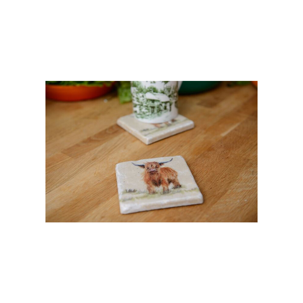 Kate Of Kensington Coasters - Highland Cow (Pack of 2) Highland Cow