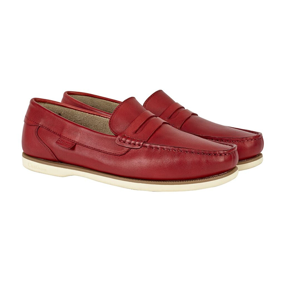 Chatham Faraday Loafer Shoe - Red - UK 8 EU 42 Red