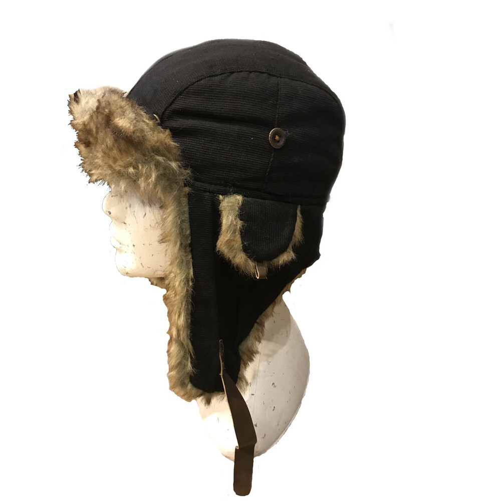Unknown Kurt Canvas Trapper Hat Black