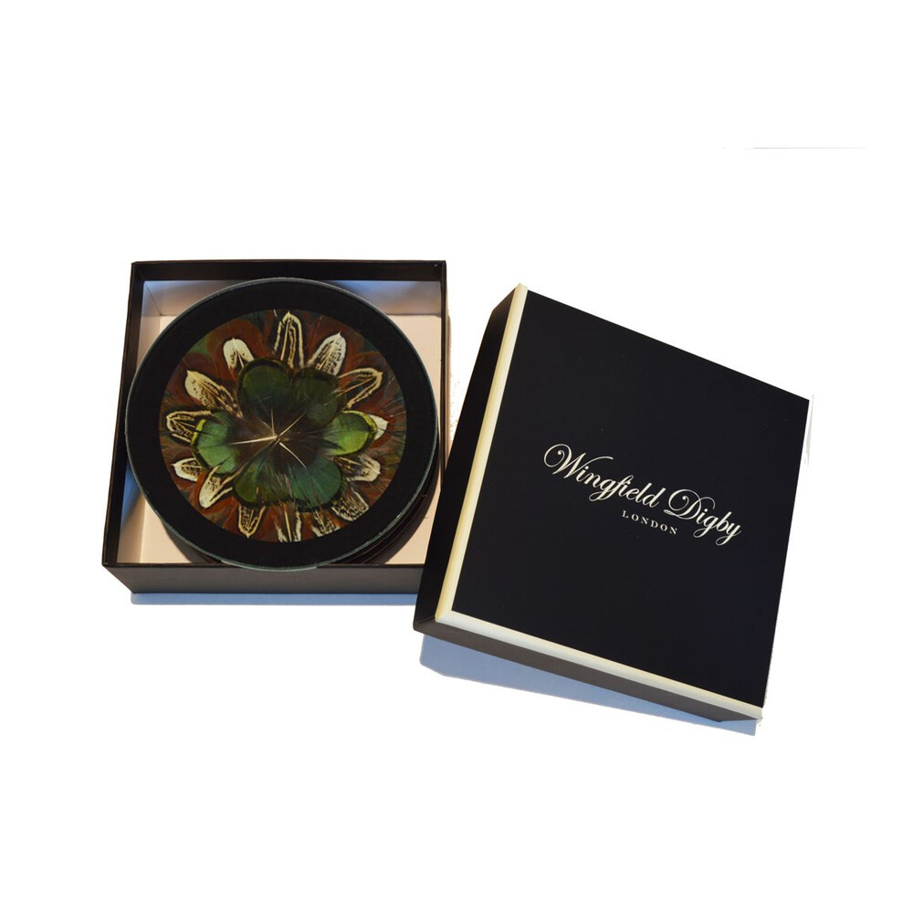 Wingfield Digby Coasters - Cock Pheasant & Green Pheasant - x6 Cock Pheasant & Green Pheasant