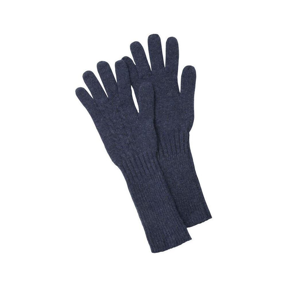Schoffel Schoffel Cashmere Cable Gloves - Indigo