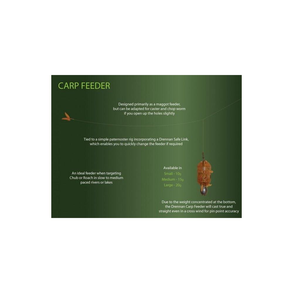 Drennan Carp Feeder - Large - 20g Brown