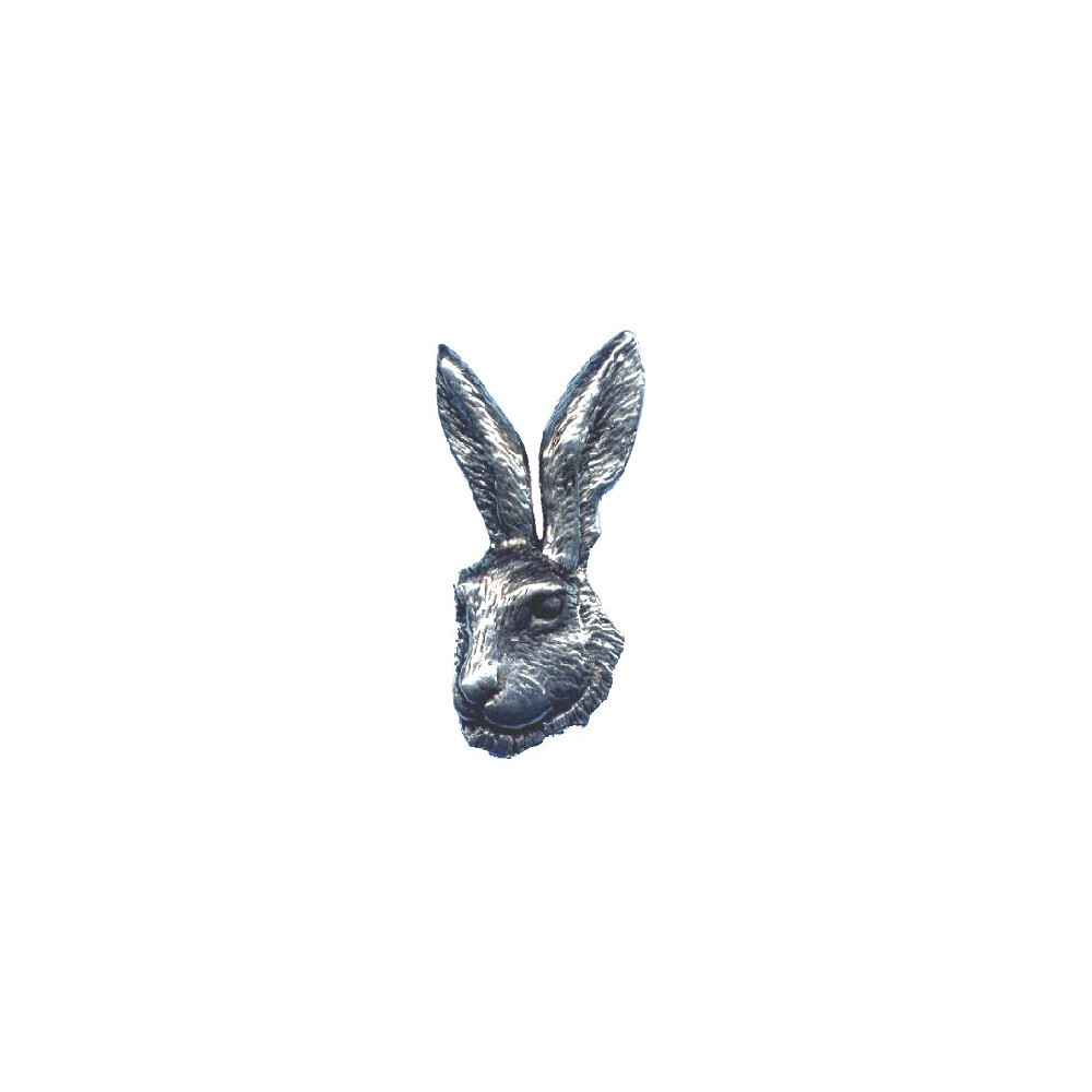 John Rothery Pewter Pin Badge - Hare Head Unknown
