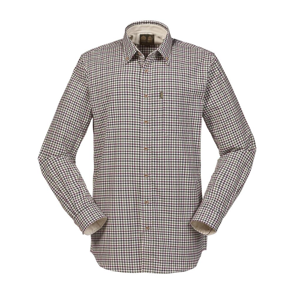 Musto Classic Button Down Shirt Carrick Check Vineyard