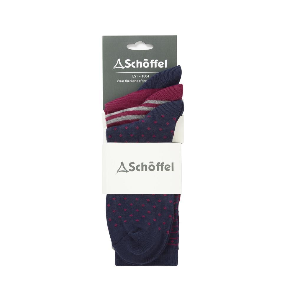 Schoffel Schoffel Beck Bamboo Sock - UK 4 - UK 7 (Pack of 3)