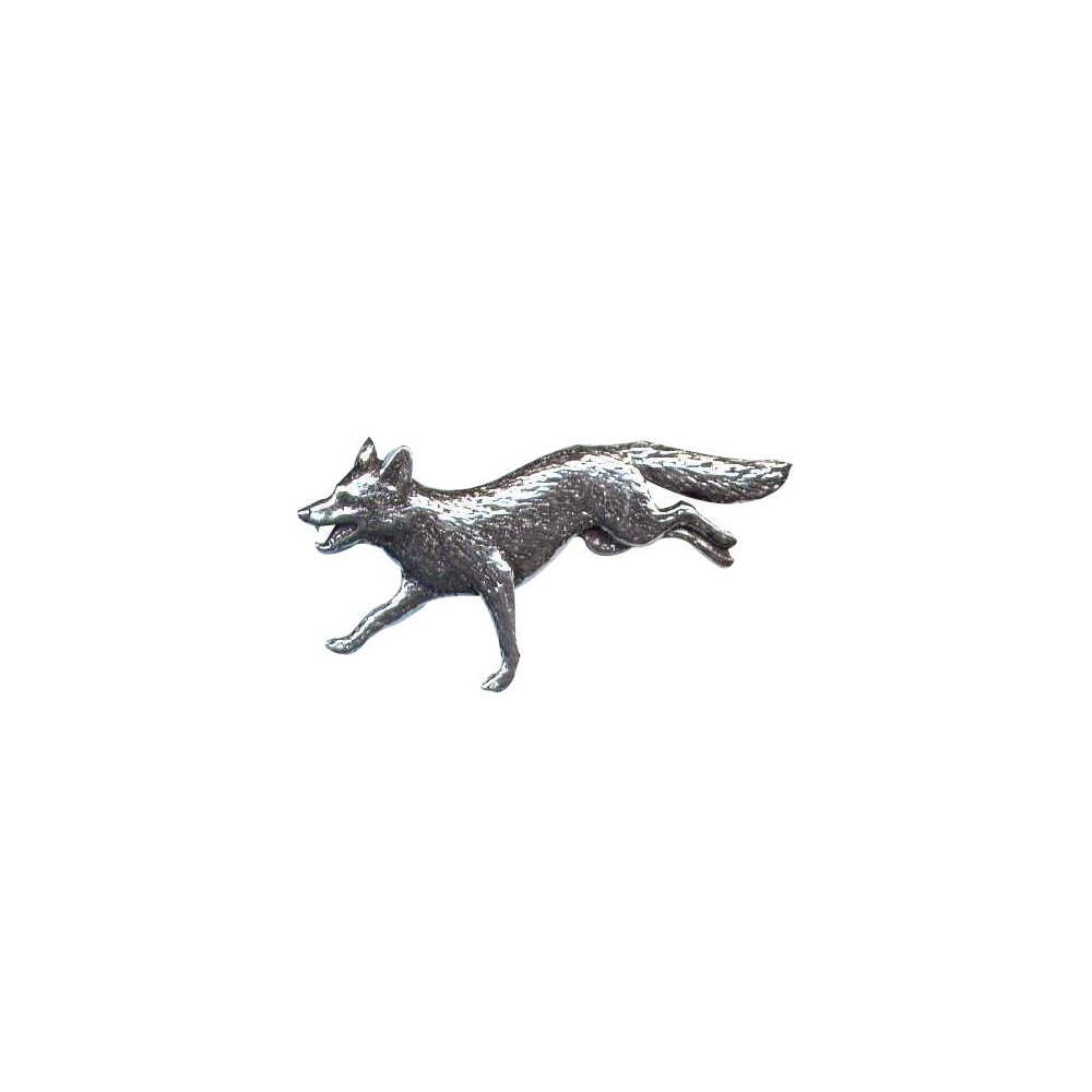 John Rothery Pewter Pin Badge - Fox Unknown