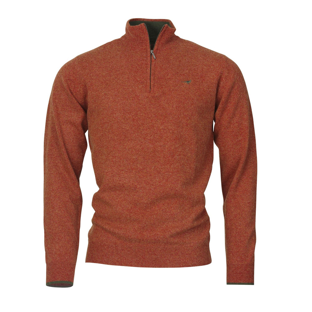 Laksen Wilton Zip-neck Sweater - Blood