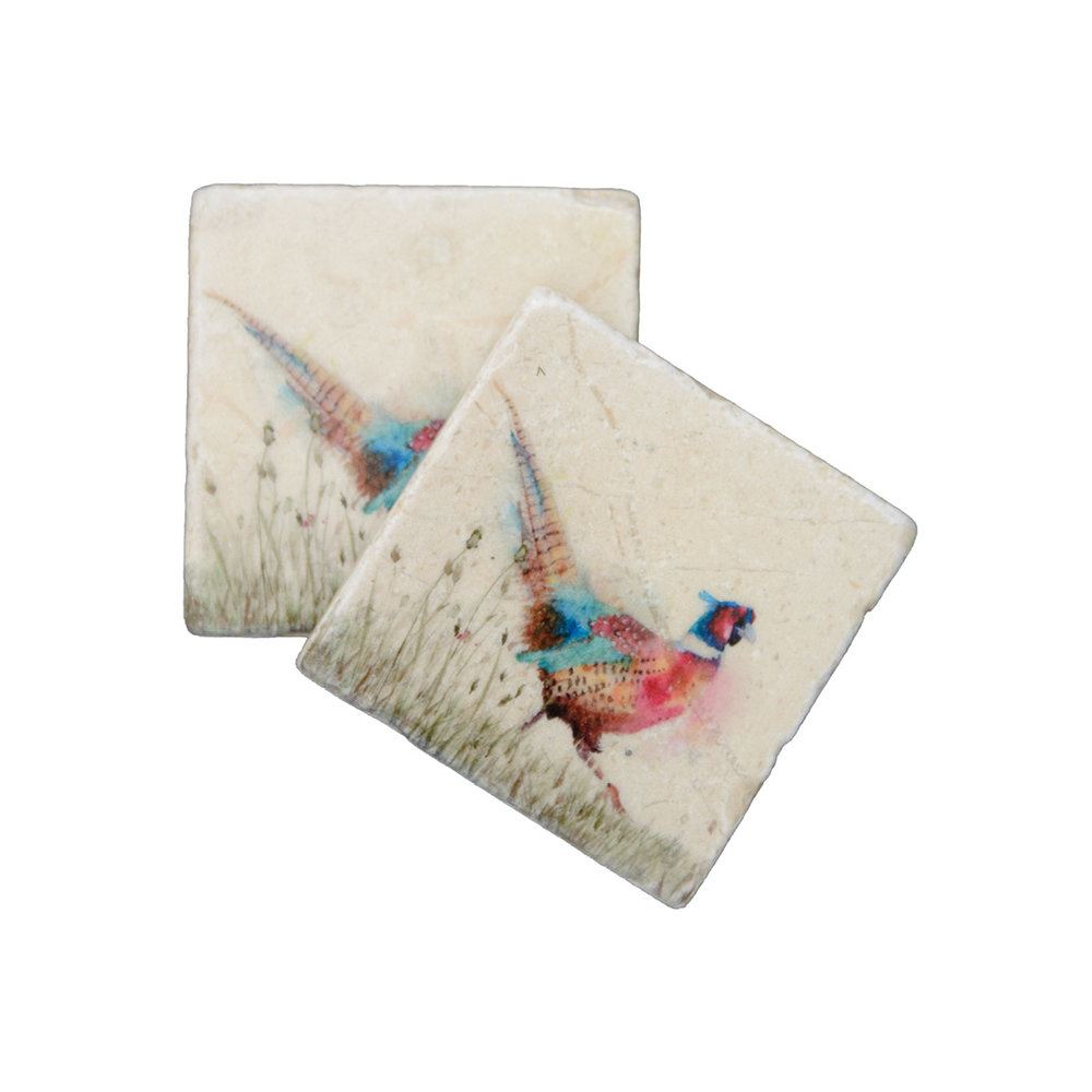 Kate Of Kensington Kate Of Kensington Coasters - Pheasant in Grass