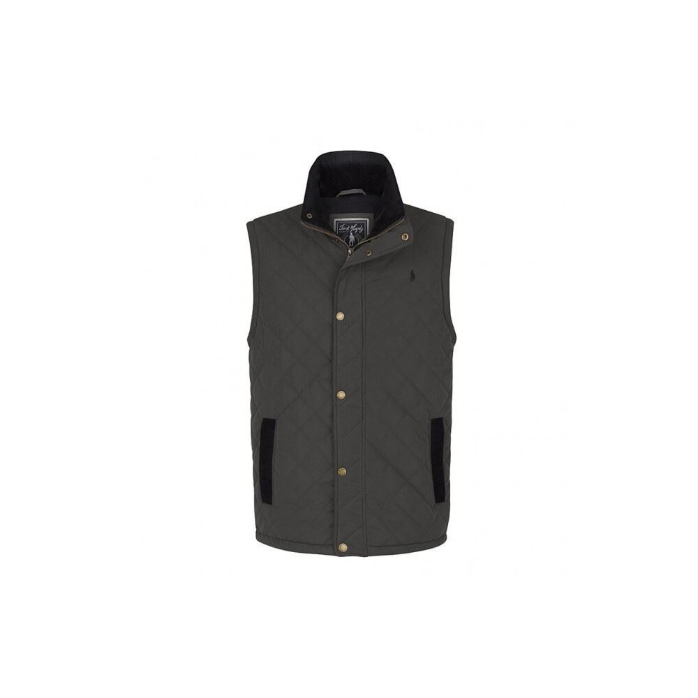 Jack Murphy Nevin Quilted Gilet - Badger