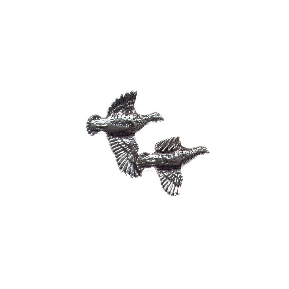 John Rothery Pewter Pin Badge - Partridges