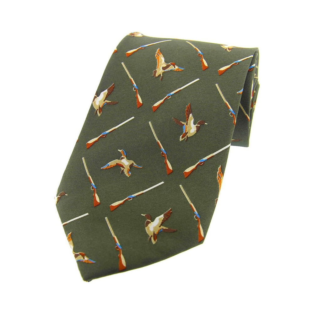 Soprano Country Silk Tie - Duck & Gun Country Green