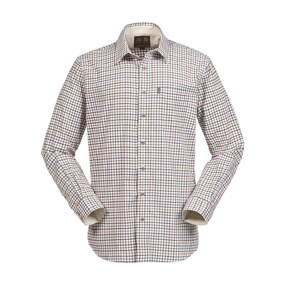 Musto Musto Classic Twill Shirt - Cairngorms Check Vineyard