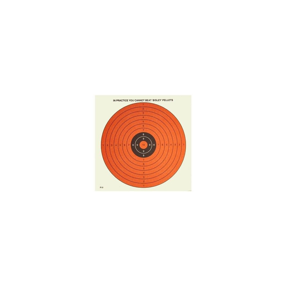 Bisley Paper Targets - Dayglow 14cm - Pack of 50