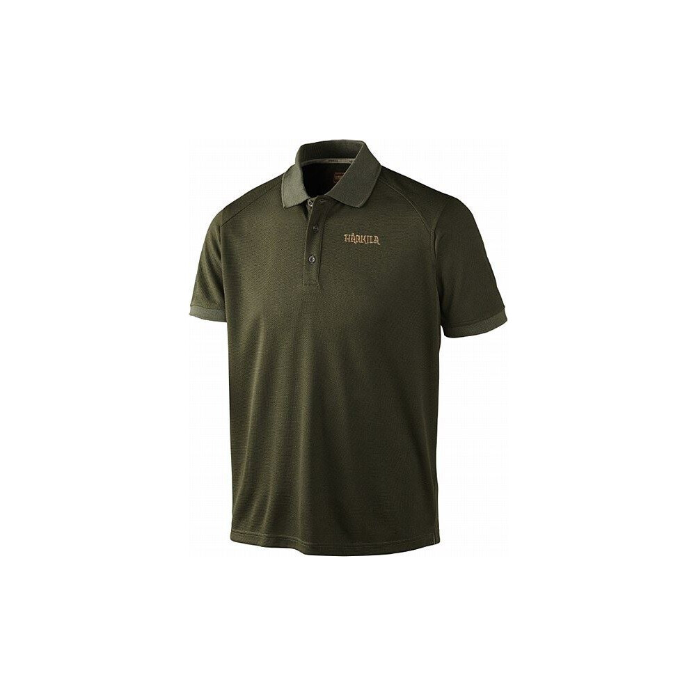 Harkila Gerit Polo Shirt - Olive Green