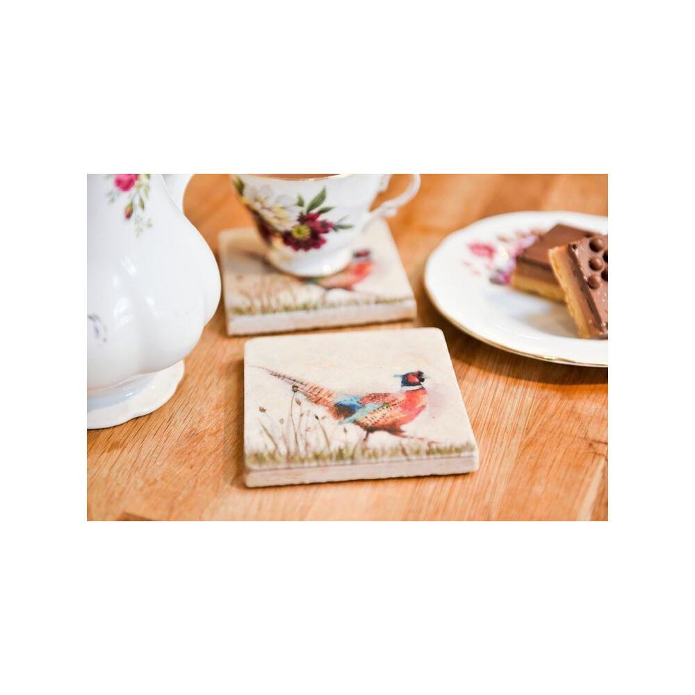 Kate Of Kensington Coasters - Pheasant in Grass Pheasant In Grass