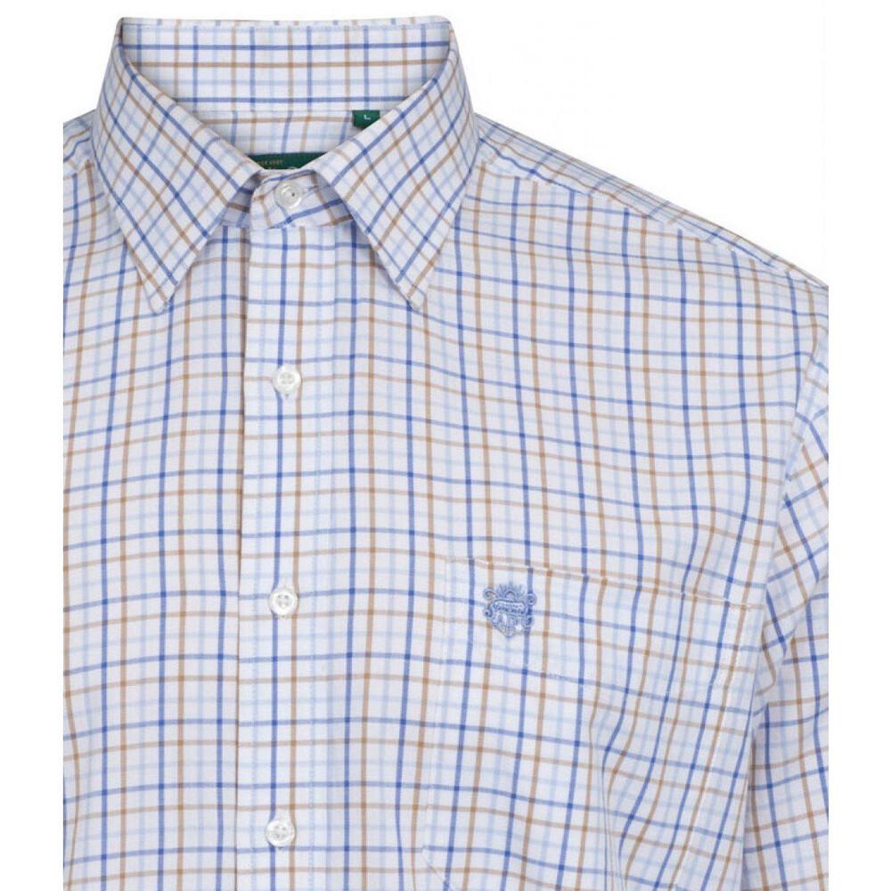 Alan Paine Aylsham Shirt Blue/Beige