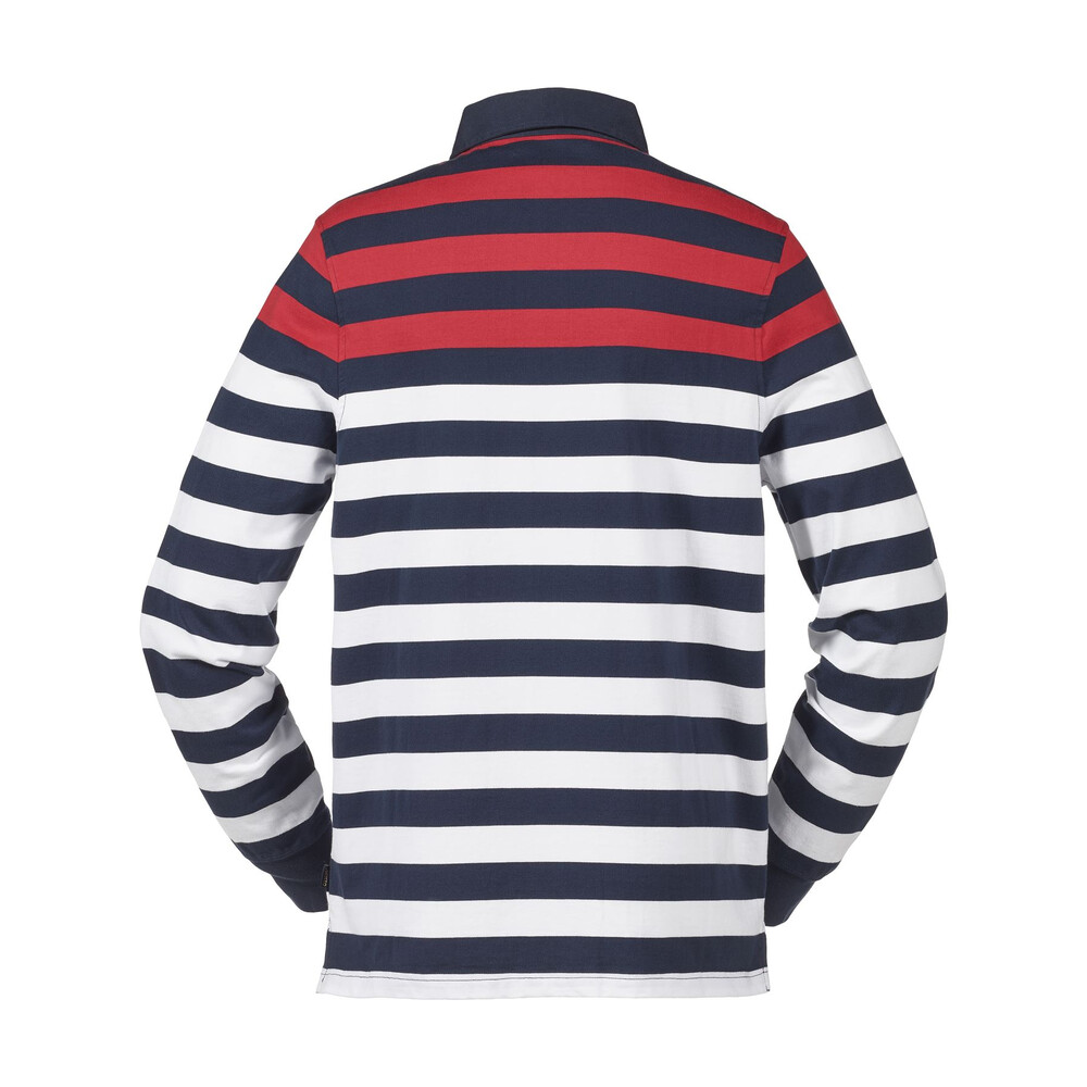 Musto Lawson Striped Rugby Top True Navy