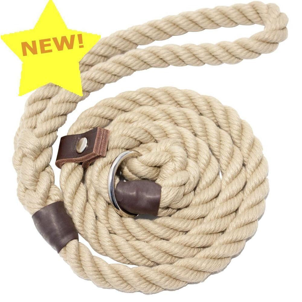 Bisley Natural Rope Dog Slip Lead Rope