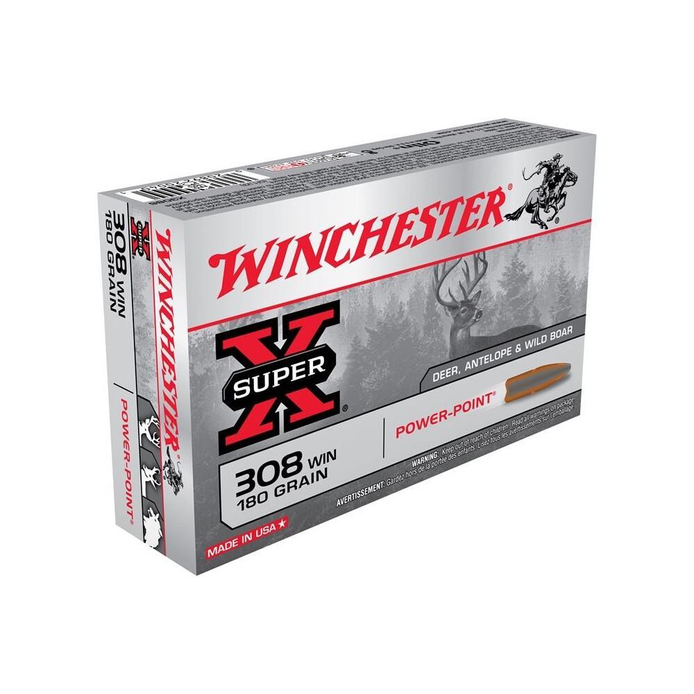 Winchester .308 Ammunition - 180gr - Super-X Power-Point