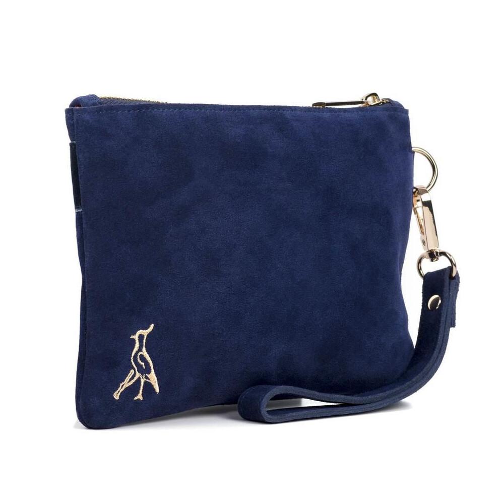 Hicks & Brown Chelsworth Clutch Bag - Navy Blue