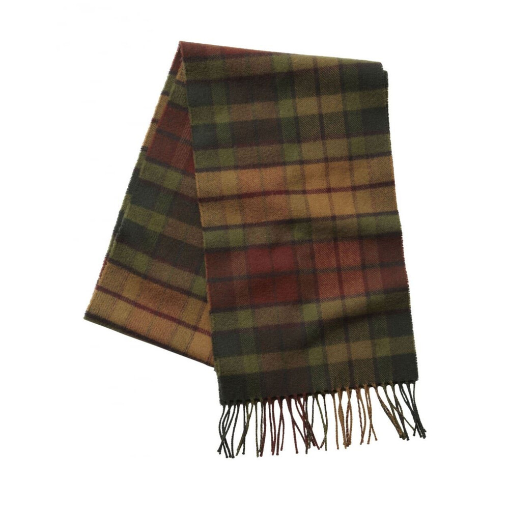 Schoffel Lambswool Scarf - Brick Check Red