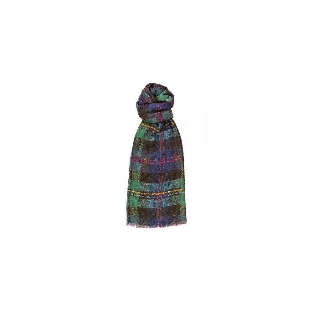 Murray Hogarth Hogarth Watercolour Tartan Modal / Cashmere Scarf - Malcolm Multi
