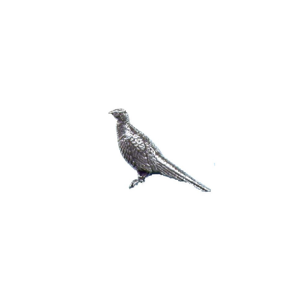 John Rothery Pewter Pin Badge - Standing Pheasant Unknown