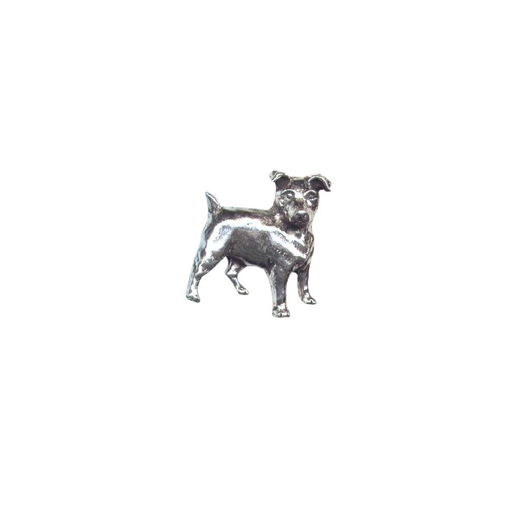John Rothery Pewter Pin Badge - Jack Russell Unknown
