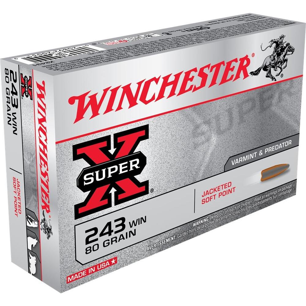 Winchester .243 Ammunition - 80gr - Super-X JSP