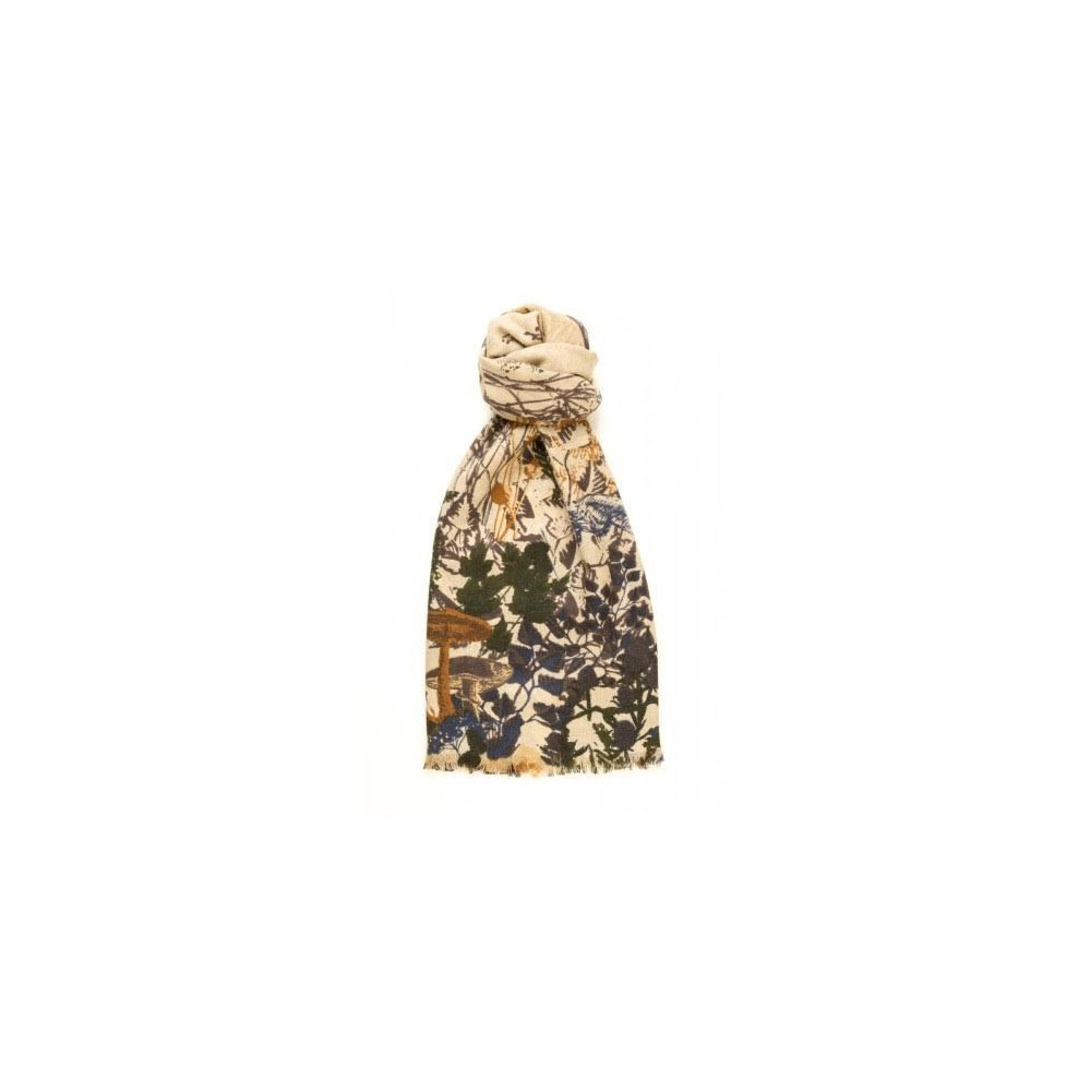Murray Hogarth Hogarth 100% Cashmere Scarf - Woodland Neutral Multi