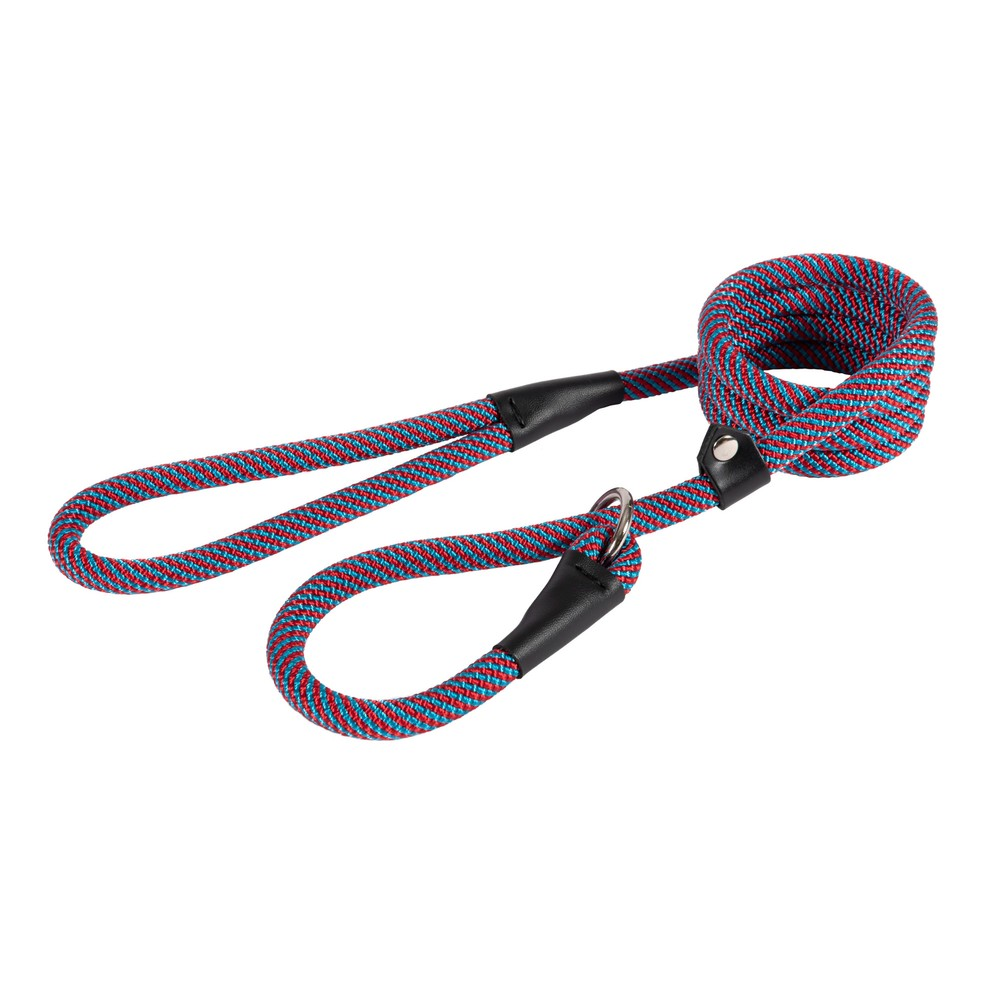 Ancol Slip Lead - Red/Blue - 150cm